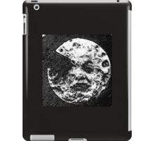 From the Earth to the moon moon with rocket in the eye water colour painting version 1 iPad Case/Skin