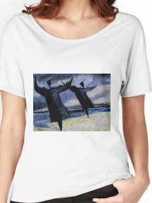 seabirds drying after the storm Women's Relaxed Fit T-Shirt