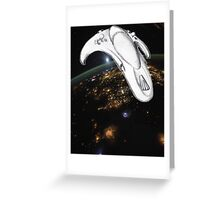 Toy Ship in Space Greeting Card