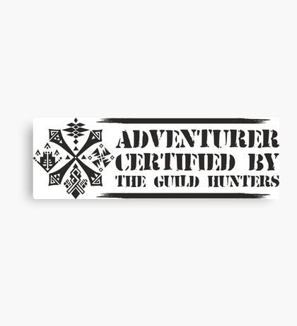 Certified By The Guild of Hunters HORIZONTAL Canvas Print
