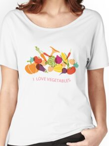 I love vegetables - Healthy Food T Shirt Women's Relaxed Fit T-Shirt