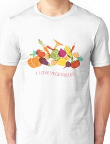 I love vegetables - Healthy Food T Shirt Unisex T-Shirt