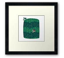 House in a forest. Framed Print