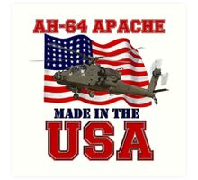 AH-64 Apache Made in the USA Art Print