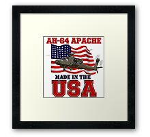 AH-64 Apache Made in the USA Framed Print