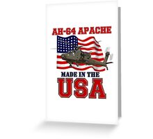 AH-64 Apache Made in the USA Greeting Card