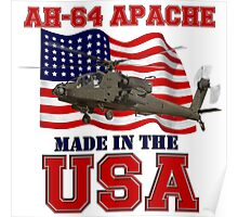 AH-64 Apache Made in the USA Poster
