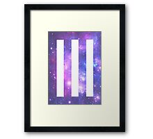 Universe Paramore Bars Framed Print