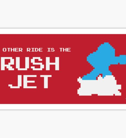 My Other Ride is the Rush Jet Sticker