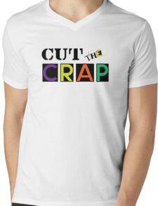 Cut The Crap - Cool Vintage Style Funny Retro Joke Design Mens V-Neck T-Shirt