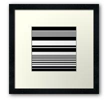 black and white horizontal stripes, fashion texture. Framed Print