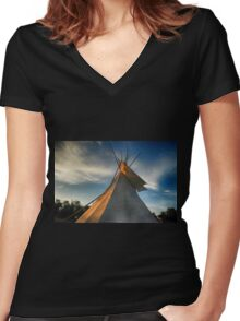 My Tipi Blue Mound State Park 3 Women's Fitted V-Neck T-Shirt