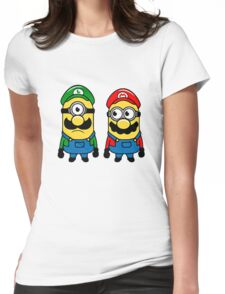 Mario Minions Womens Fitted T-Shirt