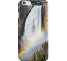 Rainbow on the Lower Falls of the Yellowstone iPhone Case/Skin
