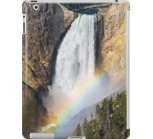 Rainbow on the Lower Falls of the Yellowstone iPad Case/Skin