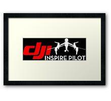 DJI inspire pilot black Framed Print