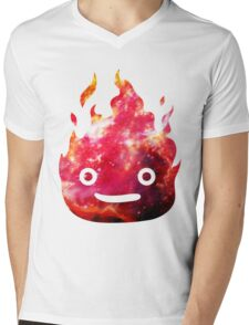 CALCIFER - Howl's Moving Castle Fire Mens V-Neck T-Shirt