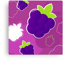 Cute purple raspherry design art collection Canvas Print