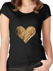 Barbed Wire Prairie Heart Women's Fitted Scoop T-Shirt