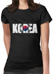 South Korea Flag Womens Fitted T-Shirt