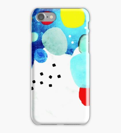 Marine Blue and White Abstract Art iPhone Case/Skin