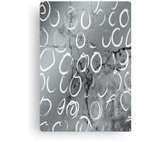 Artistic Silver Tone Circle Brush Pattern Design Canvas Print