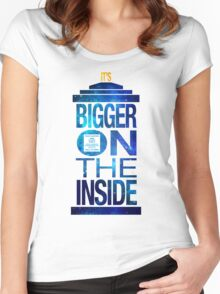 It's Bigger on the Inside - Tardis Galaxy Women's Fitted Scoop T-Shirt