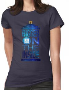 It's Bigger on the Inside - Tardis Galaxy Womens Fitted T-Shirt