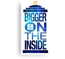It's Bigger on the Inside - Tardis Galaxy Canvas Print
