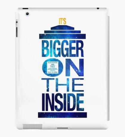 It's Bigger on the Inside - Tardis Galaxy iPad Case/Skin