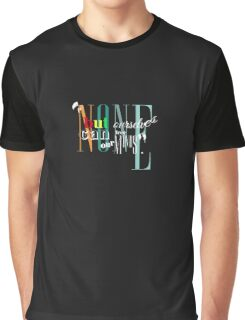 Bob Marley Lyrics - Non But Ourselves... Graphic T-Shirt