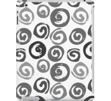 Ink swirls, hand drawn, converted to vector seamless pattern iPad Case/Skin