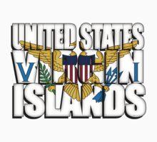US Virgin Islands Flag Kids Tee