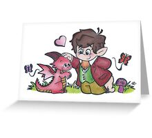 Bilbo and Smaug Greeting Card