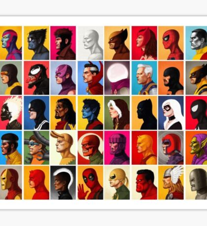 Marvel Superheroes  Sticker