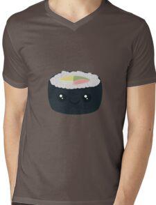 Smiling Sushi with Vegetables Mens V-Neck T-Shirt
