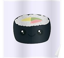 Smiling Sushi with Vegetables Poster