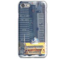 Staten island Ferry, Lower Manhattan, East River, New York City iPhone Case/Skin