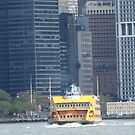 Staten island Ferry, Lower Manhattan, East River, New York City by lenspiro