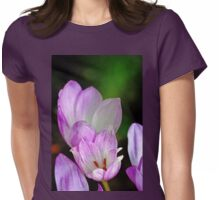 Fall Crocus Womens Fitted T-Shirt