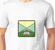 Fly Box Crossed Rod Mug Square Retro Unisex T-Shirt