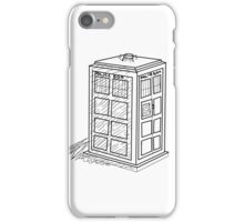Doctor Who Tardis Sketch iPhone Case/Skin