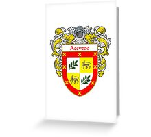 Acevedo Coat of Arms/Family Crest:  Greeting Card