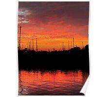 Sunset Over Clear Lake Poster