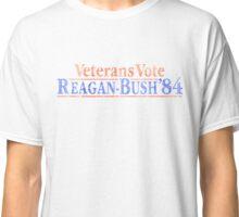 Retro Veterans Vote Reagan Bush 84  Classic T-Shirt