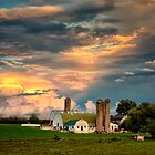 Farm Sunset After the Storm by KellyHeaton