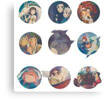 Studio Ghibli Movies Canvas Print