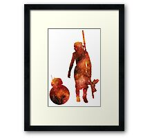 The Droid & The Girl with the Staff Framed Print