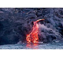 Lava Flow at Kalapana 2 Photographic Print