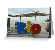 Copacobana Beach, Rio Greeting Card